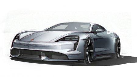 Появись новые фото ожидаемого Porsche Taycan.
